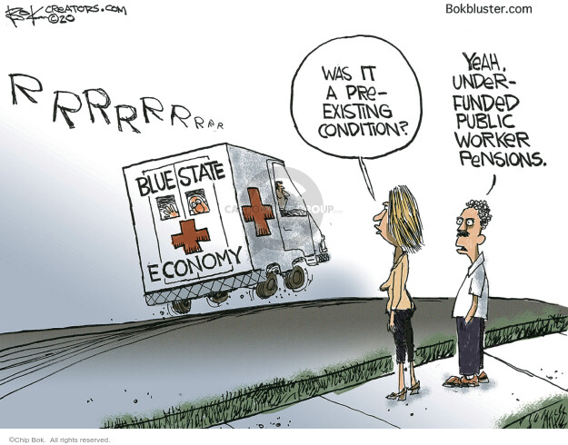 Cartoonist Chip Bok  Chip Bok's Editorial Cartoons 2020-05-19 economy