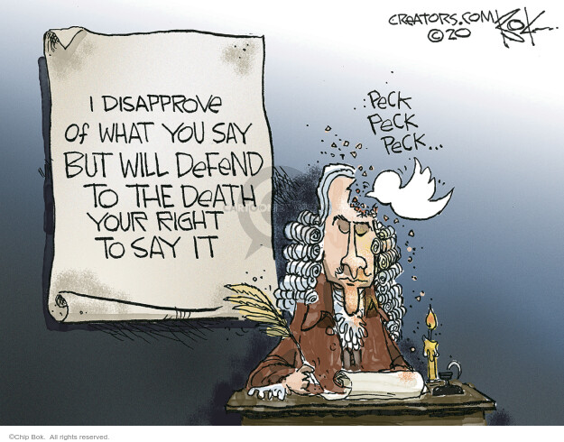 Cartoonist Chip Bok  Chip Bok's Editorial Cartoons 2020-05-29 editorial