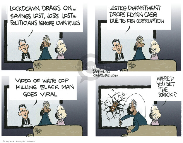 Cartoonist Chip Bok  Chip Bok's Editorial Cartoons 2020-06-08 case