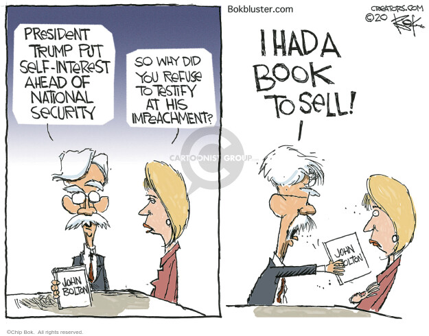 Chip Bok  Chip Bok's Editorial Cartoons 2020-06-19 political scandal