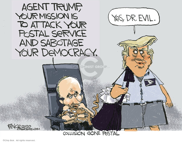 Chip Bok  Chip Bok's Editorial Cartoons 2020-08-21 Donald Trump Vladimir Putin