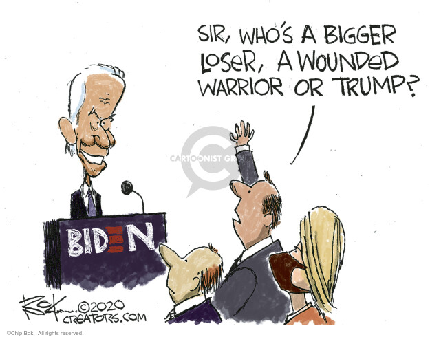 Chip Bok  Chip Bok's Editorial Cartoons 2020-09-08 candidate