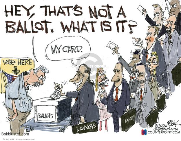 Chip Bok  Chip Bok's Editorial Cartoons 2020-11-03 2020 election