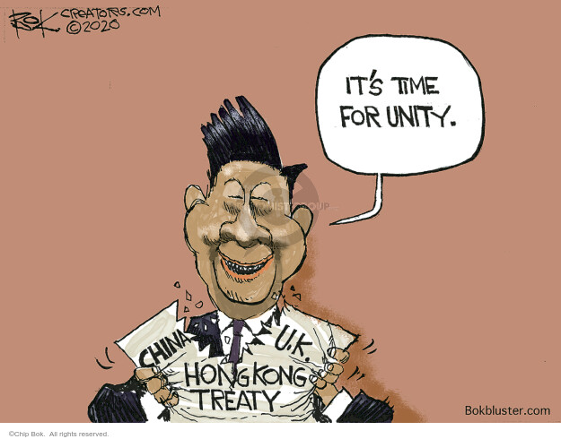 Chip Bok  Chip Bok's Editorial Cartoons 2020-11-14 conflict