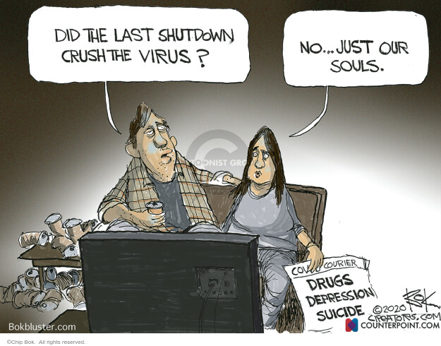 Chip Bok  Chip Bok's Editorial Cartoons 2020-11-17 coronavirus