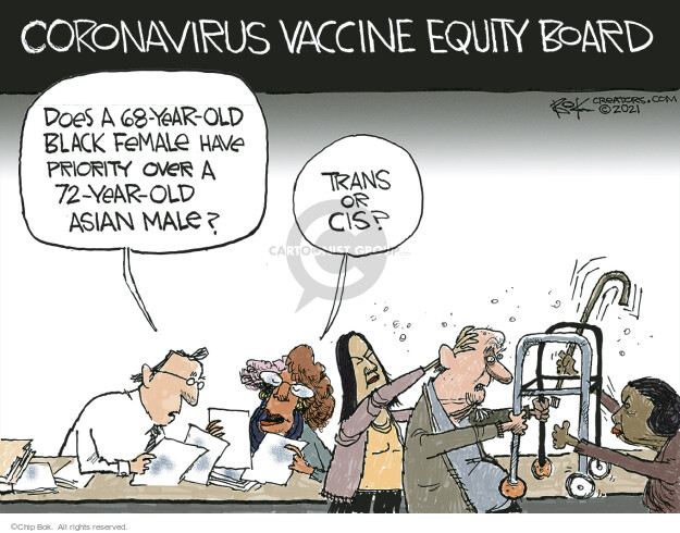 Chip Bok  Chip Bok's Editorial Cartoons 2021-02-26 COVID vaccine