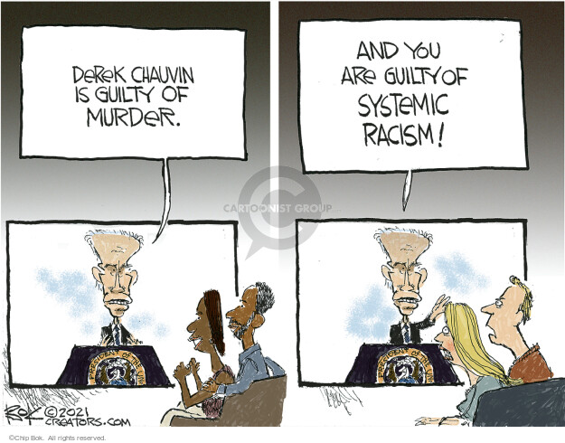 Chip Bok  Chip Bok's Editorial Cartoons 2021-04-21 Black Lives Matter