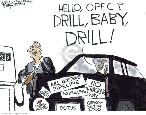 Chip Bok  Chip Bok's Editorial Cartoons 2021-10-15 climate change
