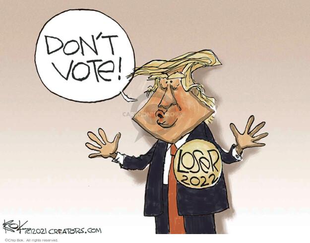 Chip Bok  Chip Bok's Editorial Cartoons 2021-10-22 voter
