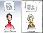 Cartoonist Chip Bok  Chip Bok's Editorial Cartoons 2005-01-10 loser
