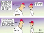 Cartoonist Chip Bok  Chip Bok's Editorial Cartoons 2005-02-17 baseball player
