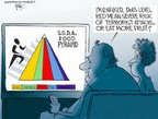 Cartoonist Chip Bok  Chip Bok's Editorial Cartoons 2005-04-21 food pyramid