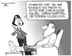 Cartoonist Chip Bok  Chip Bok's Editorial Cartoons 2005-05-26 Lebron James