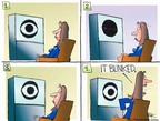 Cartoonist Chip Bok  Chip Bok's Editorial Cartoons 2004-09-22 George W. Bush