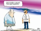 Cartoonist Chip Bok  Chip Bok's Editorial Cartoons 2006-03-31 retirement