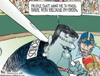Cartoonist Chip Bok  Chip Bok's Editorial Cartoons 2006-04-11 professional athlete