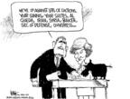 Cartoonist Chip Bok  Chip Bok's Editorial Cartoons 2006-12-12 group