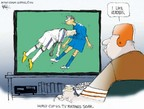 Cartoonist Chip Bok  Chip Bok's Editorial Cartoons 2007-07-12 sports television
