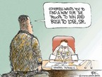 Cartoonist Chip Bok  Chip Bok's Editorial Cartoons 2007-07-23 military strategy