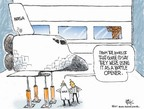 Cartoonist Chip Bok  Chip Bok's Editorial Cartoons 2007-08-23 space shuttle