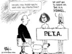 Cartoonist Chip Bok  Chip Bok's Editorial Cartoons 2007-08-28 animal rights