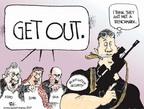 Cartoonist Chip Bok  Chip Bok's Editorial Cartoons 2007-10-01 machine gun