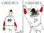 Cartoonist Chip Bok  Chip Bok's Editorial Cartoons 2007-10-18 baseball hitter