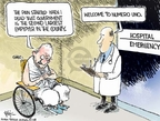 Cartoonist Chip Bok  Chip Bok's Editorial Cartoons 2008-01-02 emergency