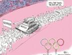 Cartoonist Chip Bok  Chip Bok's Editorial Cartoons 2008-08-11 Georgia Russia