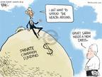 Cartoonist Chip Bok  Chip Bok's Editorial Cartoons 2008-10-26 McCain Palin