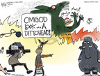 Cartoonist Chip Bok  Chip Bok's Editorial Cartoons 2009-03-06 distraction