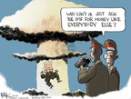 Cartoonist Chip Bok  Chip Bok's Editorial Cartoons 2009-05-27 nuclear weapon