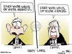 Cartoonist Chip Bok  Chip Bok's Editorial Cartoons 2009-09-16 George W. Bush