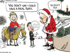 Cartoonist Chip Bok  Chip Bok's Editorial Cartoons 2009-12-24 pork-barrel
