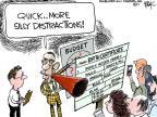 Cartoonist Chip Bok  Chip Bok's Editorial Cartoons 2011-04-27 distraction