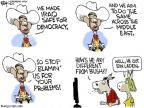 Cartoonist Chip Bok  Chip Bok's Editorial Cartoons 2011-05-20 George W. Bush