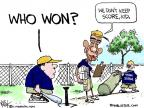 Cartoonist Chip Bok  Chip Bok's Editorial Cartoons 2011-06-27 baseball