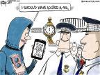 Cartoonist Chip Bok  Chip Bok's Editorial Cartoons 2011-08-12 police