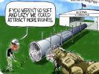 Cartoonist Chip Bok  Chip Bok's Editorial Cartoons 2011-11-15 golf
