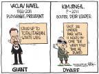 Cartoonist Chip Bok  Chip Bok's Editorial Cartoons 2011-12-19 Kim Jong-Il