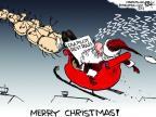 Cartoonist Chip Bok  Chip Bok's Editorial Cartoons 2011-12-23 holiday travel