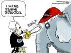 Cartoonist Chip Bok  Chip Bok's Editorial Cartoons 2012-01-12 2012 primary