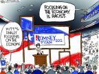 Cartoonist Chip Bok  Chip Bok's Editorial Cartoons 2012-09-01 2012 election economy