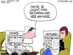 Cartoonist Chip Bok  Chip Bok's Editorial Cartoons 2013-01-25 football player