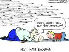 Cartoonist Chip Bok  Chip Bok's Editorial Cartoons 2013-03-18 gun