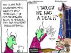Cartoonist Chip Bok  Chip Bok's Editorial Cartoons 2014-01-13 insurance policy