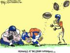 Cartoonist Chip Bok  Chip Bok's Editorial Cartoons 2014-02-03 football game