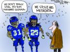 Cartoonist Chip Bok  Chip Bok's Editorial Cartoons 2014-02-04 football player