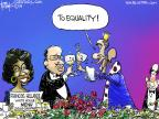 Cartoonist Chip Bok  Chip Bok's Editorial Cartoons 2014-02-13 Michelle