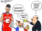 Cartoonist Chip Bok  Chip Bok's Editorial Cartoons 2014-03-29 team sport